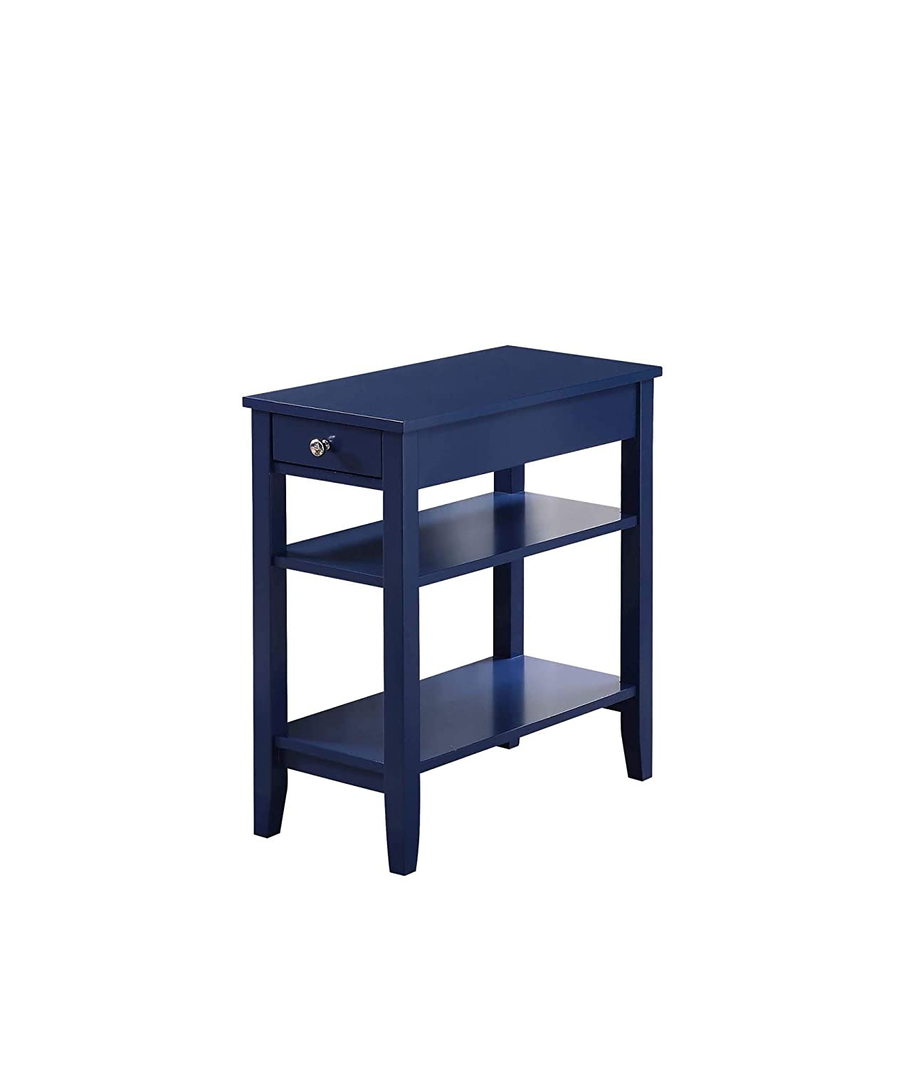 Convenience Concepts 7107159CBE American Heritage Three Tier Drawer End Table, Cobalt Blue