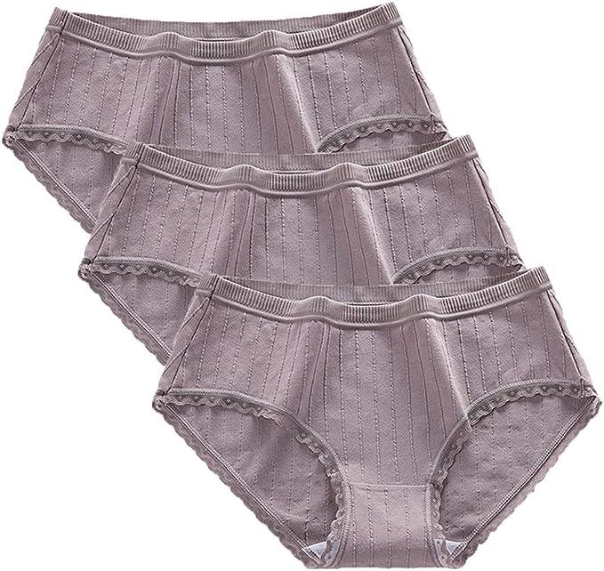 Damen Mid Waist Unterwäsche Atmungsaktive Stretchy Shorts Höschen Dessous