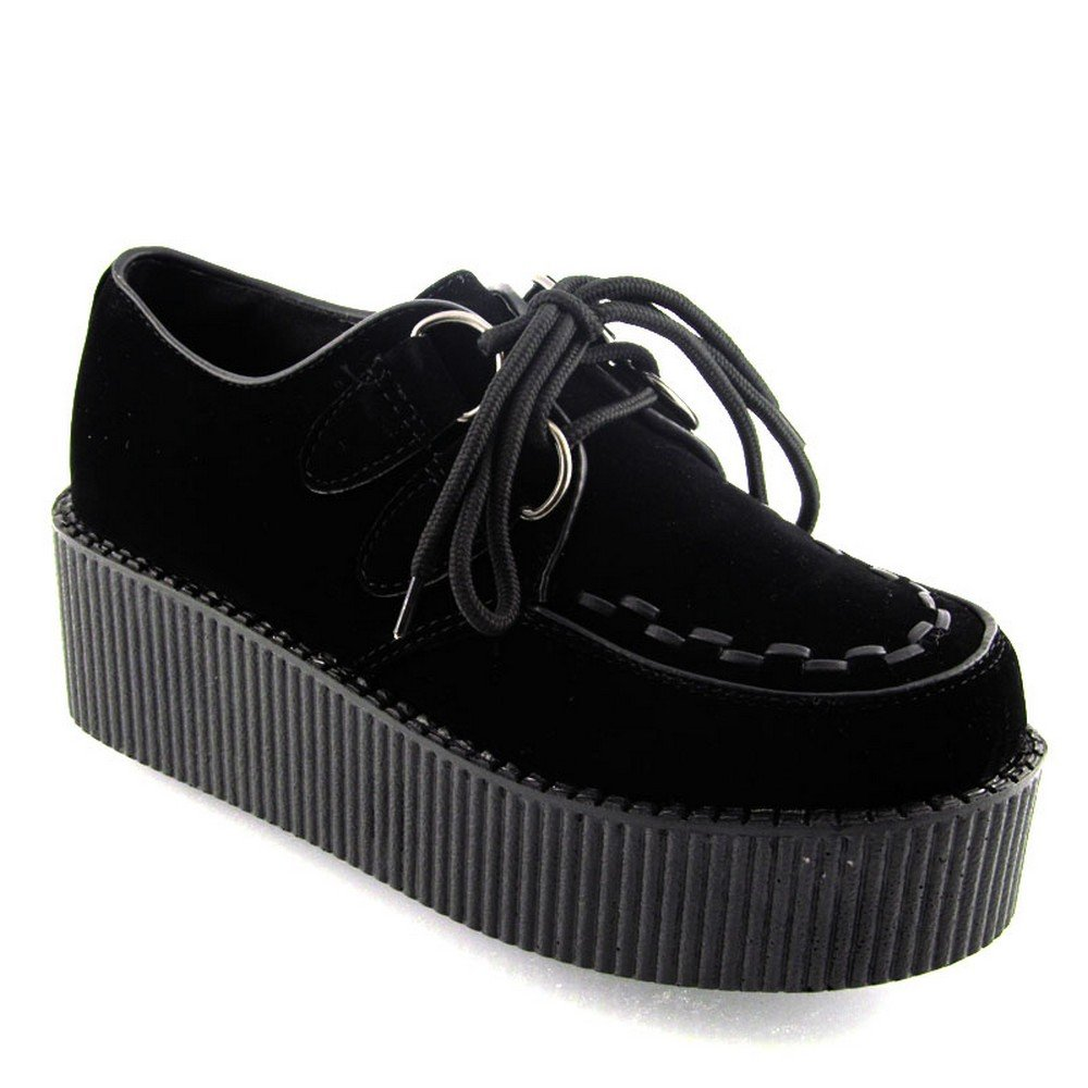 New Womens Platform LACE UP Double