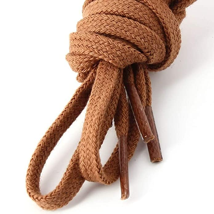 Les lacets Français – Cordones planos de algodón, color cobre ...