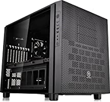 Thermaltake Core X5 Tempered Glass Black Edition E-ATX Stackable Tt LCS Certified Cube Computer Chassis CA-1E8-00M1WN-02