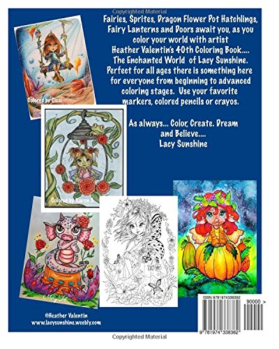 Amazon The Enchanted World Of Lacy Sunshine Coloring Book Fairies Sprites Dragon Flower Pot Hatchlings Unicorns All Ages Volume 40