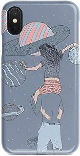 ERQINGT Etui pour Téléphone Portable Creative pour Iphonex Mobile Couple Couple 8Plus Apple 7 Coquille De Protection 6S Demi-Pack Coquille Rigide Hommes Et Femmes