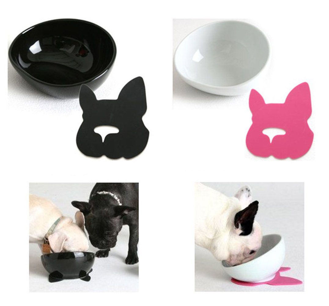 Flat Face Pet Bowls For A French Bulldog