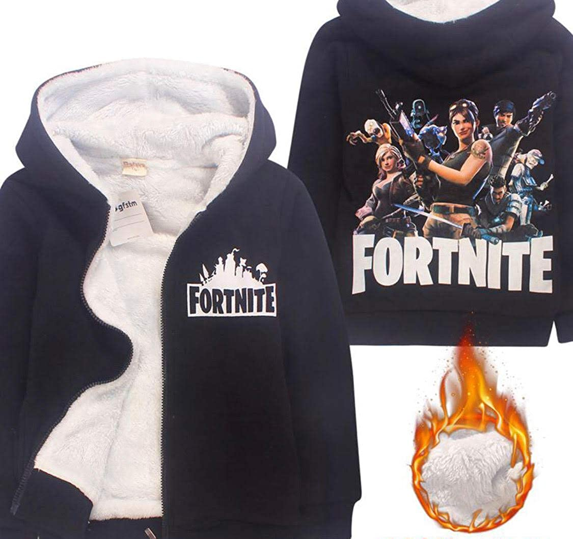 Fortnite Winter Hooded Jacket Kids Unisex Boys Girls