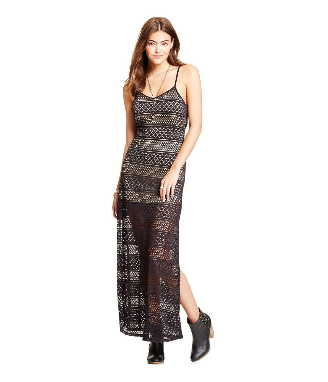Joe & Elle Womens Strappy Lace Maxi Dress
