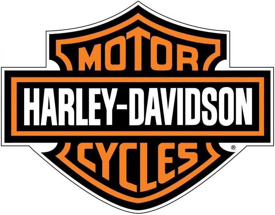 Harley-Davidson Decal Orange Bar & Shield Logo