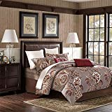 Softta Luxury Farmhouse Damask Floral and Leaf Bedding Design King Size 3Pcs(1 Duvet Cover+ 2 Pillowcases 800 Thread Count 100% Cotton Duvet Cover Set