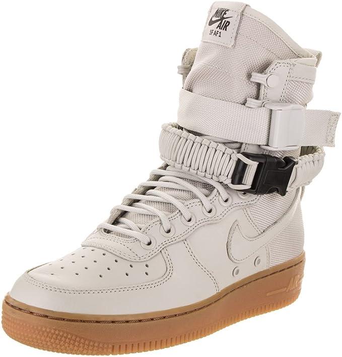 Nike Damen SF Air Force 1 Schwarz Leder Stiefel: