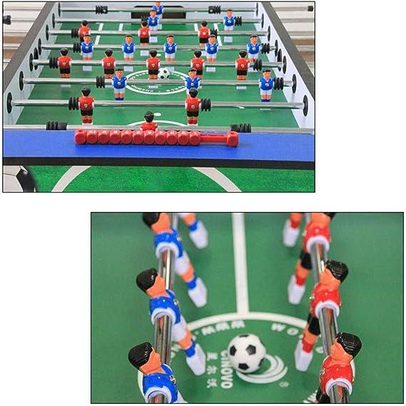YQSHYP Futbolín clásico con Dos Bolas y el Interior y Exterior Tabla de puntuación, Mesa de Juego de fútbol for Adultos y niños, 140 * 75 * 86cm: Amazon.es: Deportes y aire libre