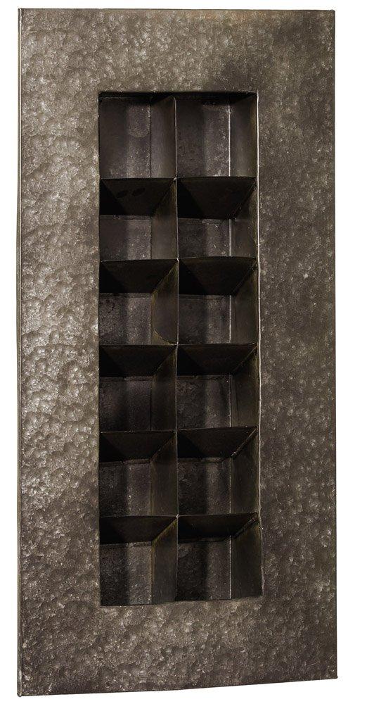 Zinc 12 Pocket Wall Planter Color: Black Zinc by Evergreen Enterprises, Inc