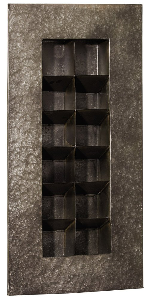 Zinc 12 Pocket Wall Planter Color: Black Zinc