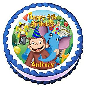 Edible Cake Images Curious George : Amazon.com: Curious George Edible Frosting Sheet Cake ...