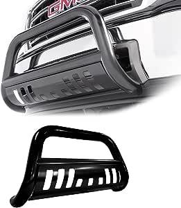 Matte Black W//Aluminum Skid Plate Armordillo USA 7170049 AR Series Bull Bar Fits 1999-2006 Chevy Silverado 1500
