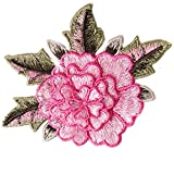 10pcs 3D Floral Embroidery Applique Sew On Patches Venise Motifs Applique Decoration Sewing for Craft Clothing T1813 (Pink)