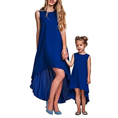 f275cecc1cece Fashion Matching Mother Daughter Clothes Dress Family Look Gown ...