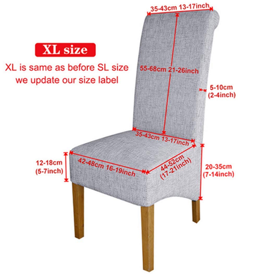 Zerci Special XL Size Long Back Decoration Spandex Fabric Resterant Hotel Party Banquet Chair Covers Slipcpvers Brown