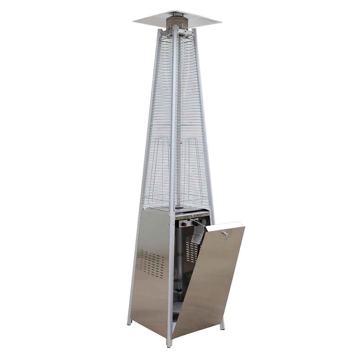 Amazon.com : Giantex 42, 000BTU Outdoor Pyramid Propane Glass Tube Dancing  Flames Patio Heater : Garden U0026 Outdoor