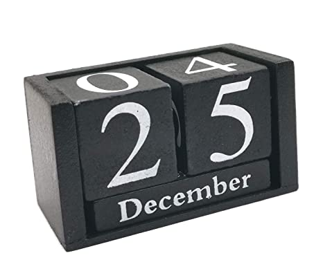 8a03cb831eb2 Amazon.com : Small Wooden Desk Blocks Calendar - Perpetual Block ...