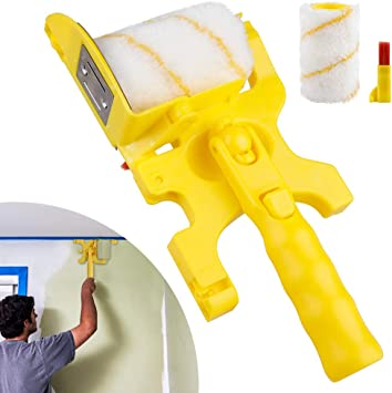 Clean-Cut Paint Edger Roller Brush Safe Portable Tool For Room Home Wall Ceiling