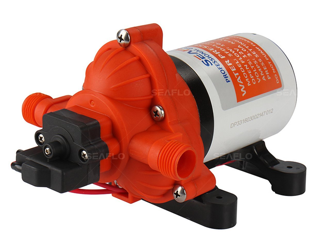 Water Diaphragm Self Priming Pump 3.0 Gallons/min (11.3 Lpm) 45 PSI New Rv/Marine 12 Volt Dc / 12 V Demand Fresh by SEAFLO