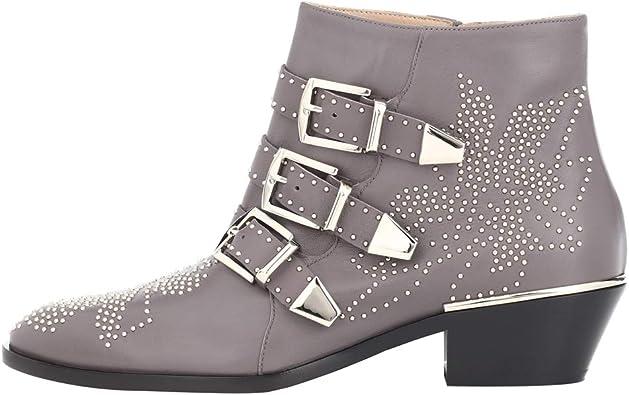 latest design best authentic best choice Amazon.com | Themost Ankle Boots Womens Genunie Leather Rivet ...
