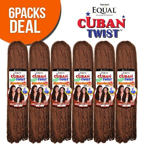 FreeTress Equal Synthetic Hair Braids Double Strand Style Cuban Twist Braid 24