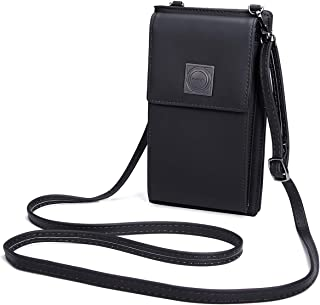 OURBAG Borsa da viaggio in pelle con cinturino in pelle da viaggio, con borsa portamonete Nero OURBAGwolzende1269