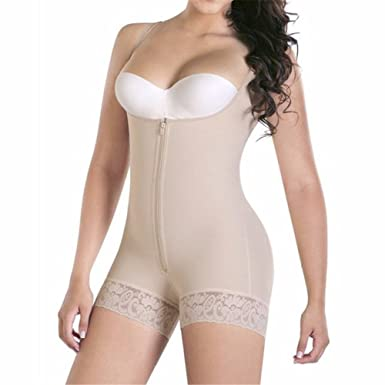 d775fd0732 Tummy Control Slimming Bodysuit Body Shaper Waist Trainer with Butt Lifter  Butt Enhancer for Post Partum Women at Amazon Women s Clothing store