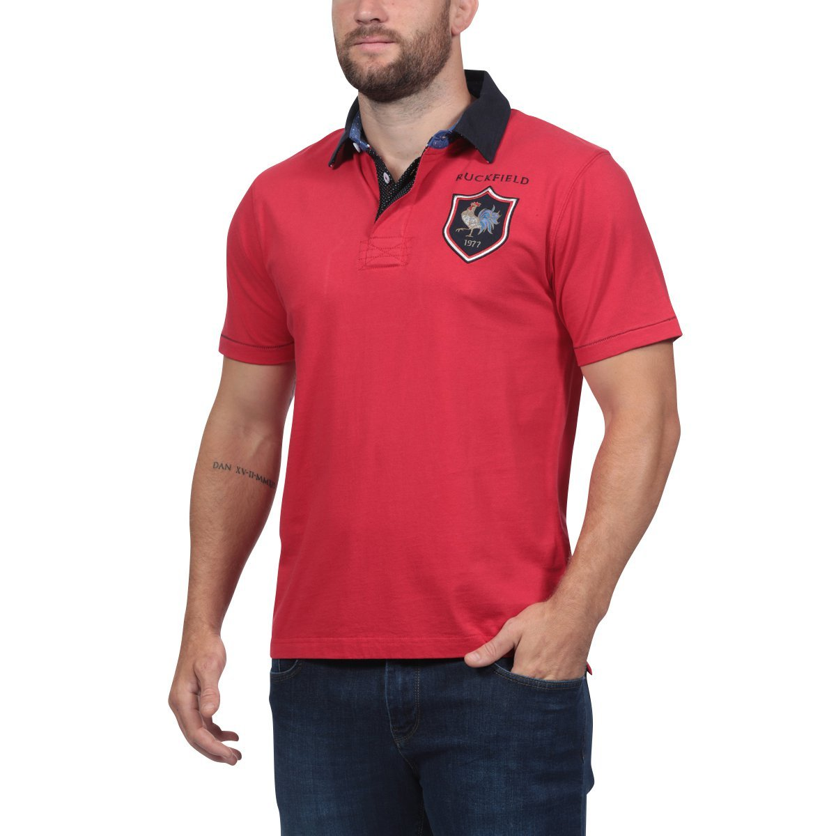 Rouge 3XL Ruckfield - Polo Rouge France - Rouge
