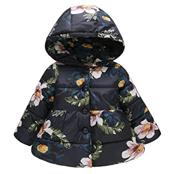 Fairy Baby Toddler Baby Girls Floral Outfit Jacket Hooded Candy Outwear Coat Warm