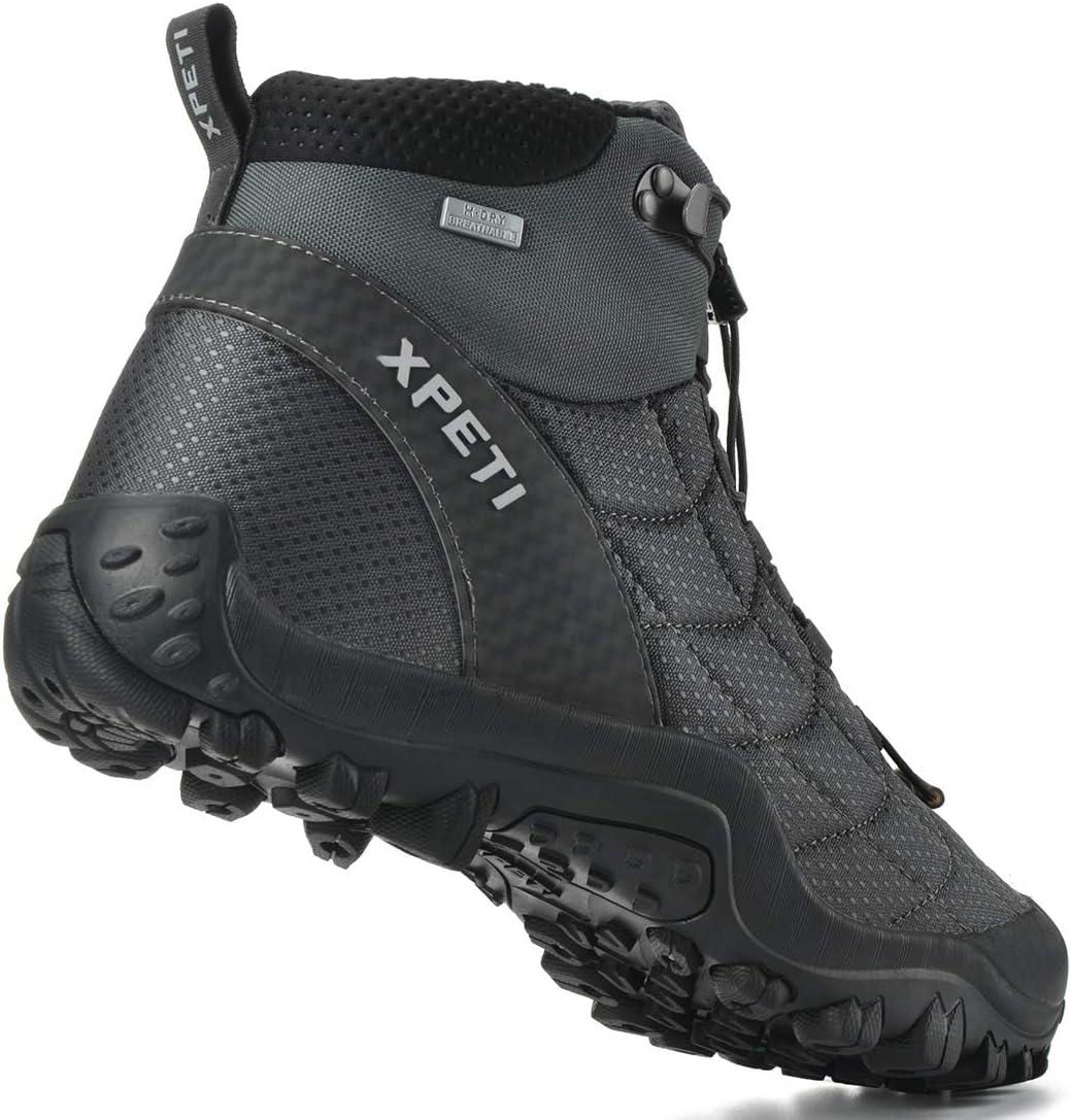 Manfen Men's Crest Thermo Waterproof Hiking Trekking Outdoor Boot Grey/Black