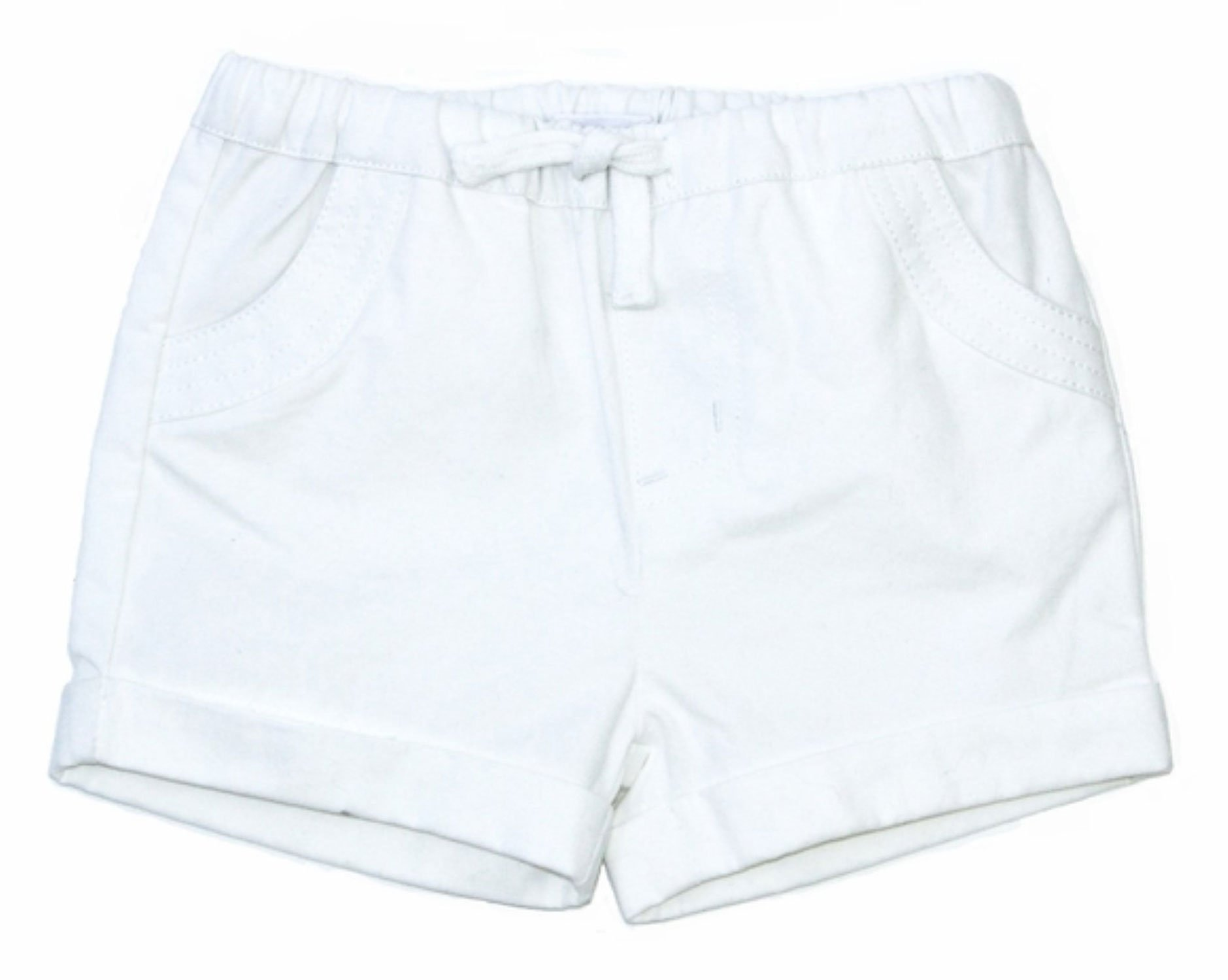 Egg by Susan Lazar Girl's Pull On Bubble Short 7Y White