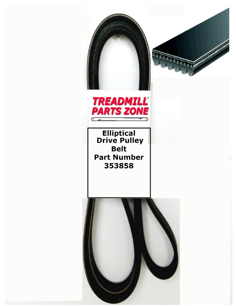 FreeMotion Elliptical Model SFEL516130 945 Drive Belt Part Number 353858 by TreadmillPartsZone