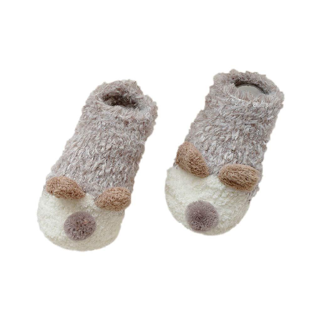 NUWFOR Lovely Baby Kid Toddlers Girls Boys Cute Cartoon Thick Non-slip Floor Socks(As shown,0-6Months)