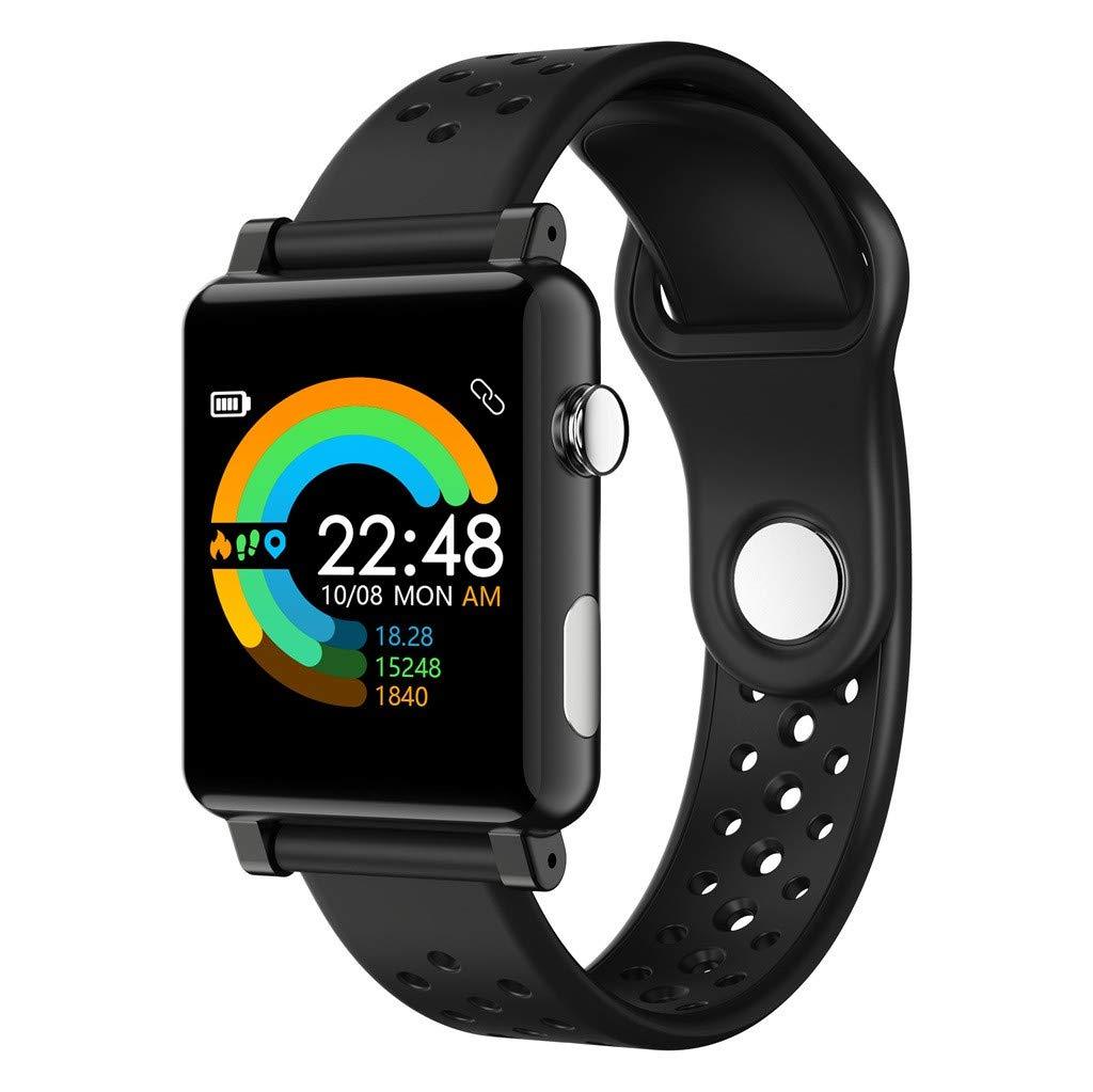 LLJEkieee 1.3inch Big Screen SmartWatch IP67 Waterproof Pedometer Sleep Monitoring Fitness Bracelet Alarm Clock/Medication/Meeting/sedentary/Drink Reminder (Black) by LLJEkieee