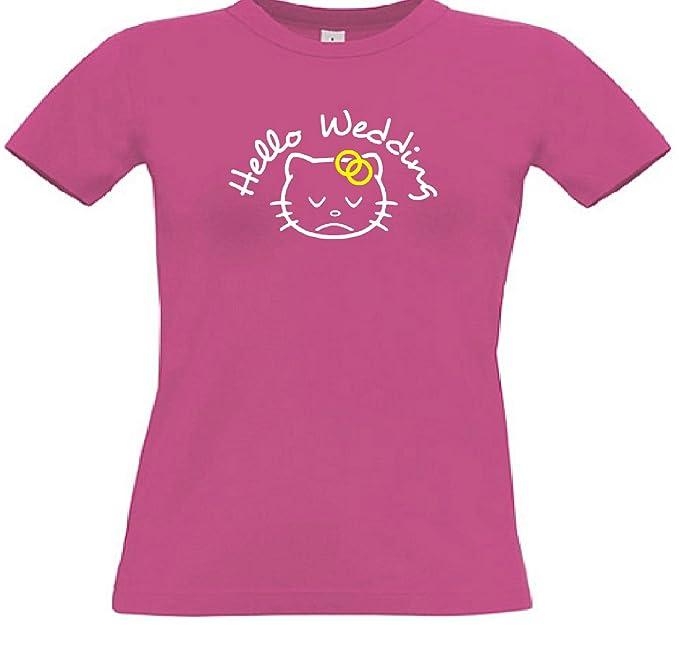 T-Shirt für den Junggesellinnenabschied mit dem Motiv Hello Wedding:  Amazon.de: Bekleidung