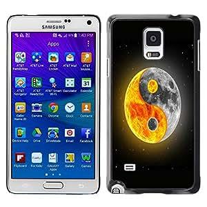 - Moon Night - - Fashion Dream Catcher Design Hard Plastic Protective Case Cover FOR Samsung Galaxy Note 4 Retro Candy