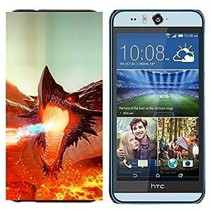 EJOOY---Cubierta de la caja de protección para la piel dura ** HTC Desire Eye M910x ** --Fierce Smaug Fire Dragon