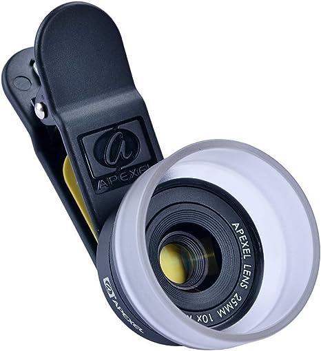 Apexel – Objetivo Macro HD 10 X iPhone cámara con Objetivo de ...