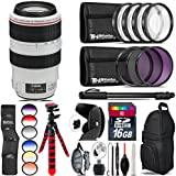 Canon EF 70-300mm IS USM Lens + 6PC Graduated Filter Set + UV-CPL-FLD Filters + Macro Filter Kit + 72 Monopod + Lens Hood + 16GB Class 10 + Backpack + Spider Tripod - International Version