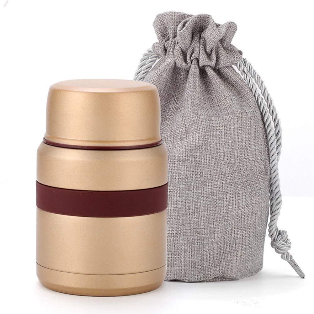 CMXHGKDJ Flasche Edelstahl Thermos lebensmittelbehälter INOX folden löffel Tasche Flasche Kinder Lunchbox bento Thermo Outdoor isolieren