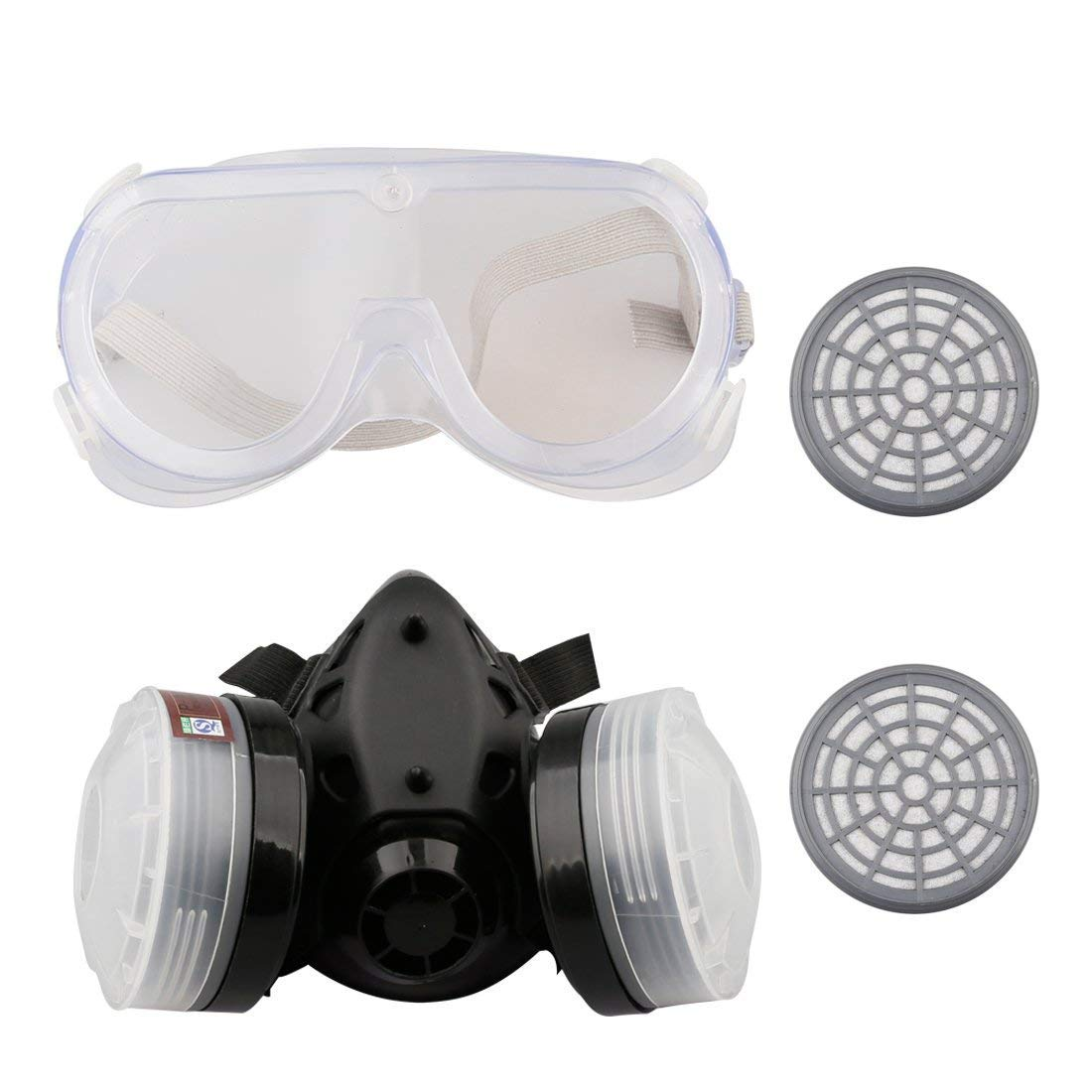 Reusable Respirator Antigas Mask,Painting Chemical Anti Dust Mask Respirator,with 2 PCS Extra Filters