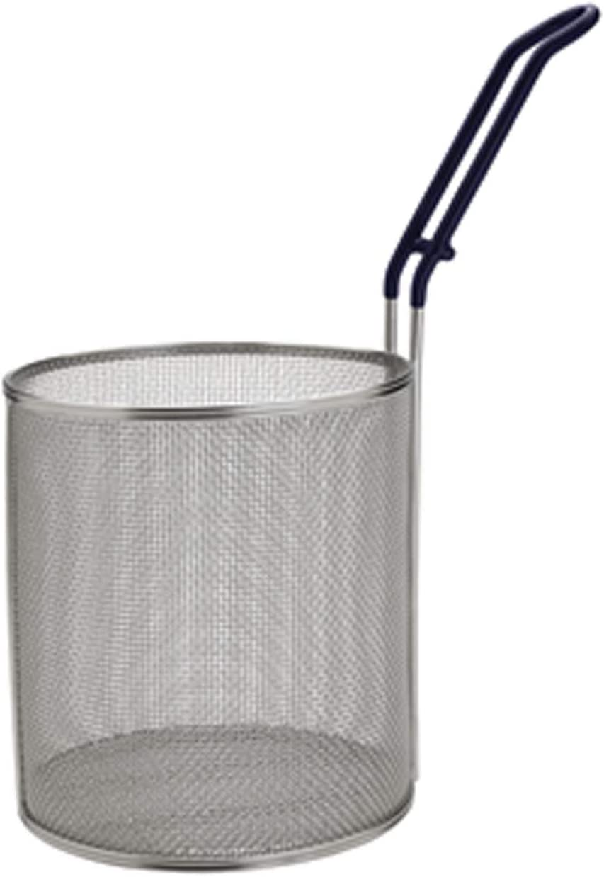 Winco MPN-67, Stainless Steel Small Pasta Boil Baskets, 6.5-Inch Diameter Cylindrical Pasta Strainer
