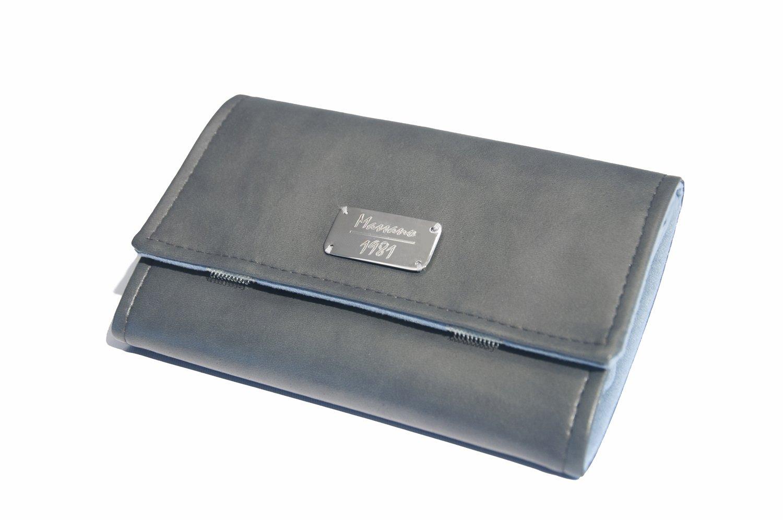 Portagioie da viaggio, realizzato a mano in eco-pelle e microfibra, 100% Made in Italy (grigio) PTGM ECO/MF grigio