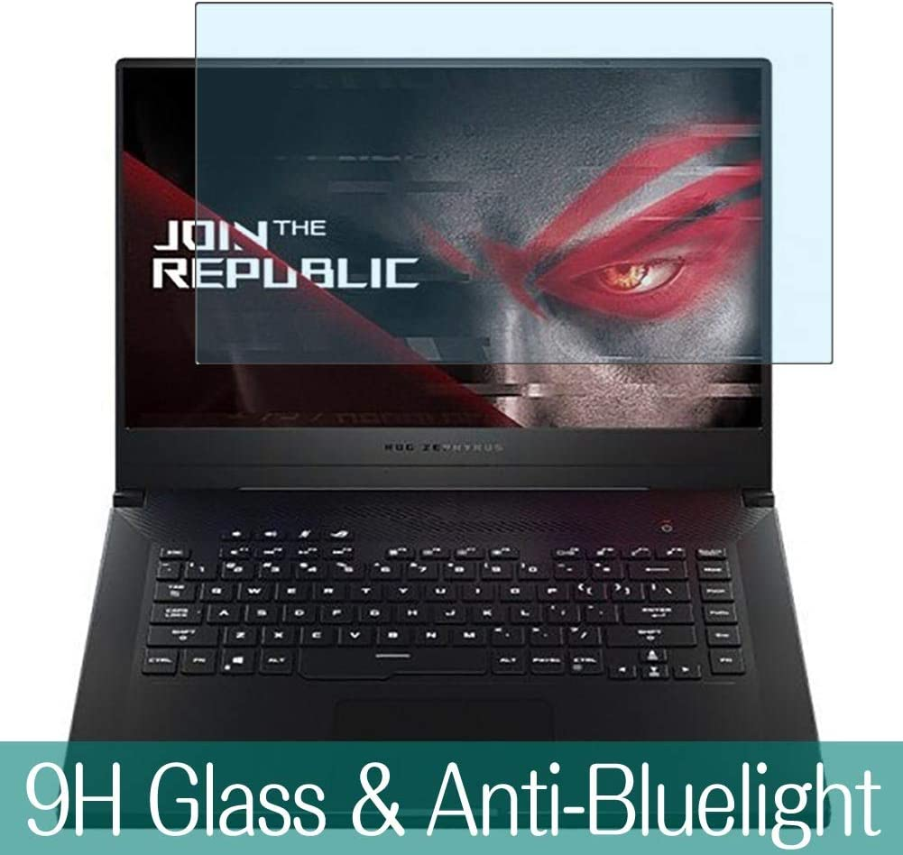 "Synvy Anti Blue Light Tempered Glass Screen Protector for ASUS ROG Zephyrus M GU502 / GU502GV / GU502GU 15.6"" Visible Area 9H Protective Screen Film Protectors"