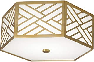 """product image for Robert Abbey 438 Williamsburg Tazewell - 17"""" 23W 1 LED Flush Mount, Modern Brass Finish"""
