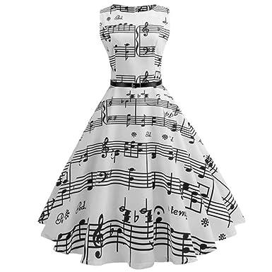 Amazon.com: Vestido Swing para mujer sin mangas con ...