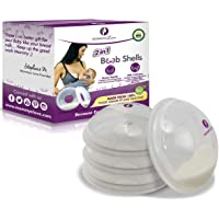 Breast Shell & Milk Catcher for Breastfeeding Relief (2 in 1) Protect Cracked, Sore, Engorged Nipples & Collect Breast…