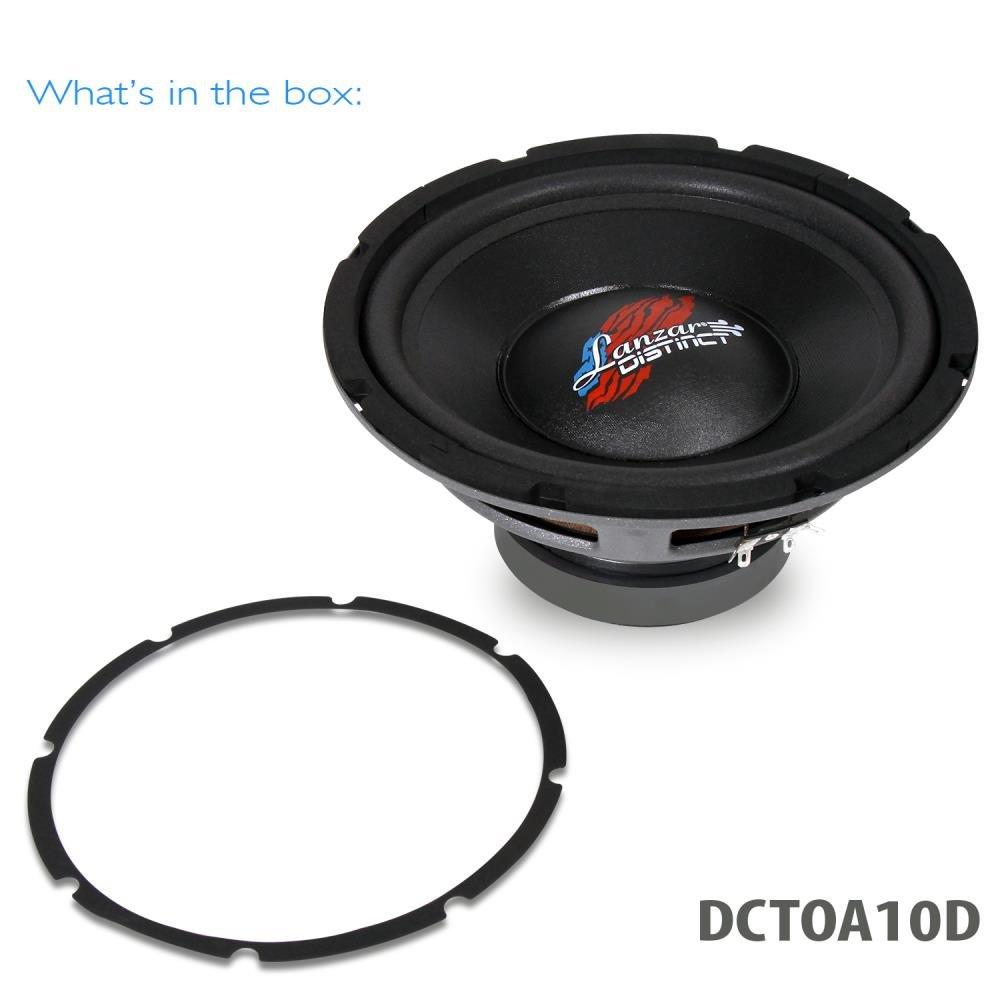 Lanzar DCTOA10D Distinct Series 10-Inch 4 Ohm High Power Free-Air Dual Subwoofer